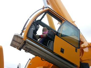 Daddy's little crane driver